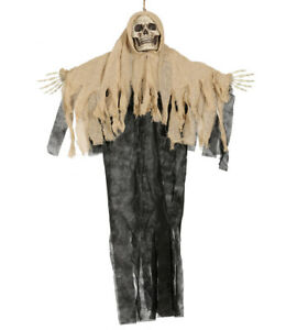 Hanging Ghost Halloween Party Prop Decoration Light Up Scary Skeleton 4FT NEW