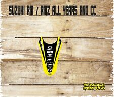 SUZUKI RM RMZ 65 85 125 250 450 MOTOCROSS REAR MUDGUARD STICKER-GRAPHIC MX89