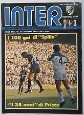 """50796 Inter Football Club - a. XXIV n. 10 1985 - 100 gol di """"Spillo""""; Prisco"""