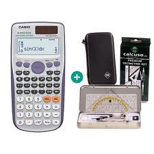 Casio fx 991 es plus calculadora + funda protectora y geometrieset