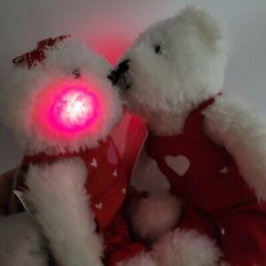 Hallmark Blushing Bears Magnetic Kiss Hand Holding Stuffed Animal Bears Heart