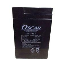 Oscar 6V 5Ah Sealed Lead Acid Rechargable Battery for UPS Emergency Light TOYS