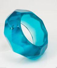 Kenneth Jay Lane trans aqua bangle bracelet 8828TQ