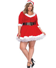 Sexy Leg Avenue Mrs Claus Christmas Holiday Costume Lingerie Plus Size 3X/4X