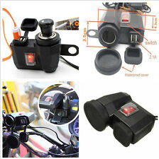 1xUniversal New Weatherproof Motorcycle USB Cell phone Cigarette Lighter Charger