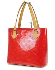 Authentic LOUIS VUITTON Houston Red Vernis Leather Tote Bag Purse #36308