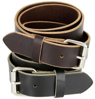 "Men's Full Grain One Piece Heavy Duty Leather Gun Belt 1-1/2"" Wide Made In USA"