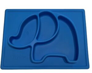 Nuby Sure Grip Miracle Mat Silicone Plate Dish Baby Toddler Elephant Plate