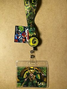 Marvel Loki Lanyard with Retractable Card Holder