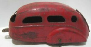 Old Wyandotte Pressed Steel Miniature House Trailer for Lasalle Car - wood tires
