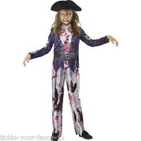 Girl's Jolly Rotten Pirate Fancy Dress Costume Kids Party Book Day Caribbean Fun