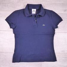 Ladies LACOSTE Blue Vintage Designer Polo Shirt T-Shirt Size 36 / UK 4 #D5238