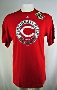 Cincinnati Red MLB Majestic Men's Big & Tall Short Sleeve Shirt