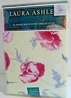 "Laura Ashley Flannel Back Vinyl Tablecloth Freshford 52"" x 70"" Rectangular New"
