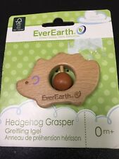 EverEarth Eco Friendly Wooden Baby Toy: Hedgehog Grasper/Teether/Sound Maker
