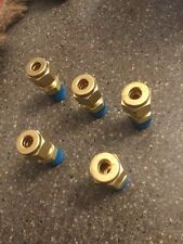 "LOT OF 5 Swagelok Brass Coupler Connector Tube OD 1/4"""