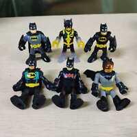 6pcs Different Fisher Price Imaginext DC Super Friends Batman Action Figure