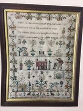 Traveling Stitcher HANNAH STARKEY 1836 sampler cross stitch pattern