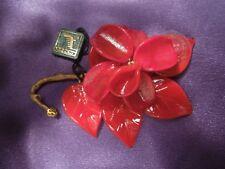 Arte di MURANO Red Petals Delicate Glass Flower  ORIGINAL TAGs  Made in Italy