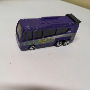 Purple And Green Hurricane Hot Wheels Bus 1999 Mattel Inc. 1:64 Scale