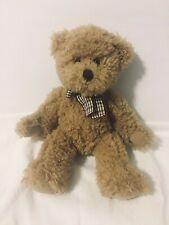Russ Tan Douglas Teddy Bear w/Brown & Green Bow Plush Stuffed Animal