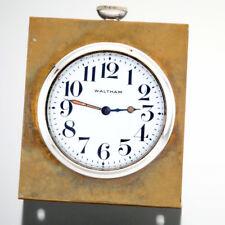 WALTHAM CAR CLOCK POCKET WATCH IN BRASS DESK STAND CA1911