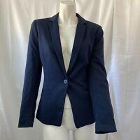H&M Womens Navy Blue One Button Blazer Size 4