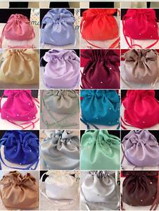 DIAMANTE DUCHESS SATIN DOLLY BAG BRIDAL B/MAID FLOWER GIRL *free swatches*