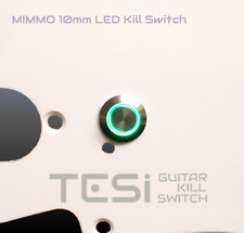 Tesi MIMMO 10MM LED Momentary Guitar Kill Switch Stainless Steel / Green