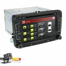 7'' 2 Din Car Stereo DVD Radio Gps Camera For Vw Golf Jetta Passat Skoda MK4 MK5