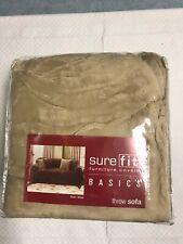 SureFit Plush Throw Hemmed - Throw Slipcover - Wheat