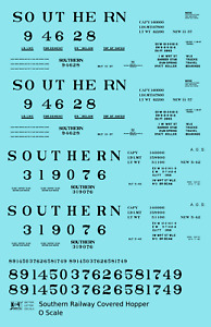 K4 O Decals Southern Railway Covered Hopper Black