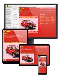 Ford Ka Petrol (1996 - 2002) P to 52 Haynes Online Manual