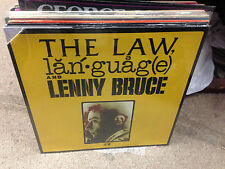 Lenny Bruce The Law, Language & Lenny Bruce vinyl LP 1974 Warner Bros SEALED