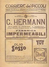 CORRIERE DEI PICCOLI 30 APRILE 1911 anno III NUMERO 19 CON SOVRACOPERTINA SPED