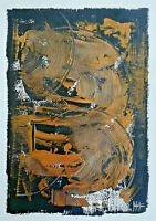 Dipinto a mano originale astratto acrilico su cartoncino firmato a mano
