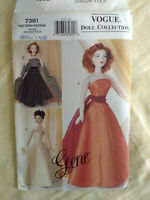 "Vogue Doll Collection Gene 15.5"" Doll Evening Dresses Circa 1950 UNCUT"