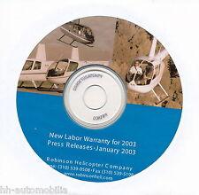 CD Presseinformation Robinson Helicopter 1/03 GB press release dossier de presse