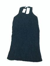 New John Rocha Rib Cotton Slipover (Small) RRP £73 Sparkle Black BNWT