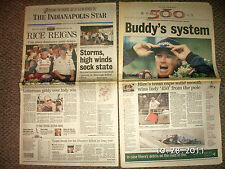 Buddy Rice wins 2004 Indy 500 Indianapolis Star May 31 Newspaper David Letterman
