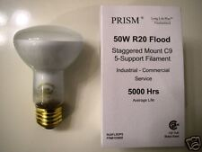 10-lot Halco 50W R20 Long Life Indoor Flood Light Bulbs