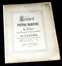 concert pour violons de Pietro Nardini partition piano violons et orchestre 1900