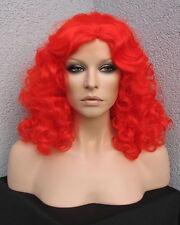 Atemberaubende Locken Perücke Travestie Show Drag in rot