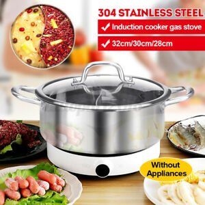 Stainless Steel Twin Duck Hot Pot Induction Cooker Cookware Home/Commercial AU