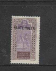 BURKINA FASO #1 1920 1c OVERPRINT MINT VF NH O.G b