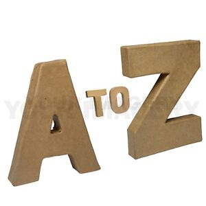 10cm Small Papier Mache Letters with Free P&P, for Decoupage and Decopatch