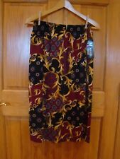 Maggie Sweet New W/ Tags A-Line Med Full Skirt Rich Classic Holiday Jewel Tones
