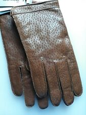 M&S Mens Italian Leather Gloves with Thinsulate    Medium Tan