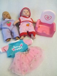 """Cititoy Circo 8"""" Inch Little Baby Dolls Soft Body Lot Light and Dark Skinned"""