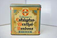 Hohberger's Eukalyptus Menthol Bonbons alte Motivblechdose Retro Vintage Sammler